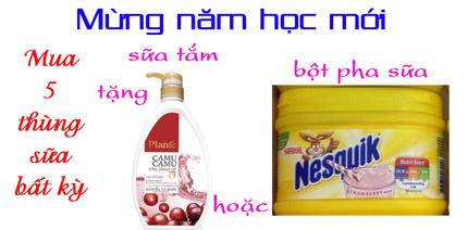 Mua 5 thùng sữa tặng 1 chai sữa tắm Thái Lan