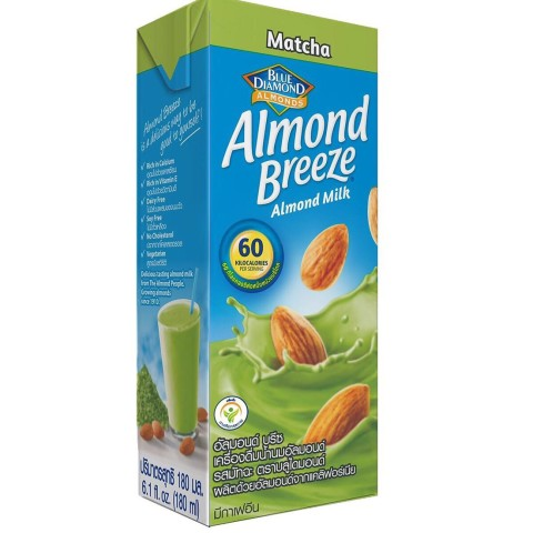 Almond Breeze milk hanh nhan matcha